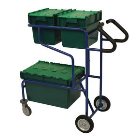 Order picking trolley with two shelf levels