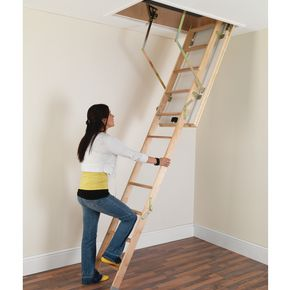 Deluxe timber loft ladder
