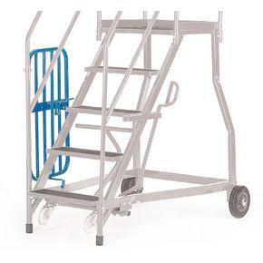 Heavy duty warehouse steps - Expanded steel treads