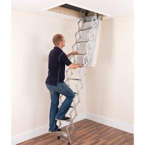 Aluminium concertina ladder