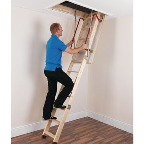 Economy timber loft ladder
