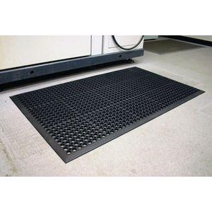 Rubber scraper outdoor entrance mat