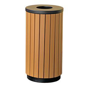 Wood effect outdoor litter bins