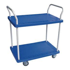 Heavy duty plastic shelf trolleys