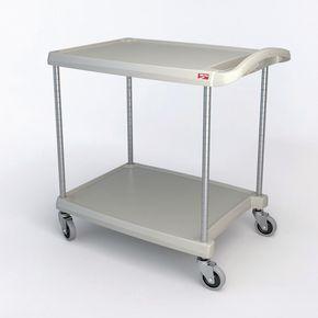 MyCart plastic service trolleys, grey shelves -  grey shelves