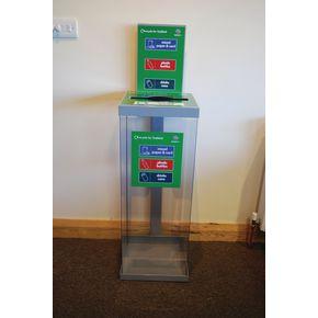 Internal recycling bin system