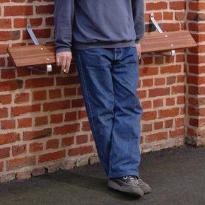Wall mounted perch seat