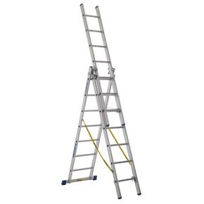 Skymaster large 3-section transformable ladders
