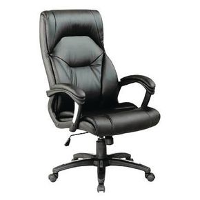 High back leather effect executive chair
