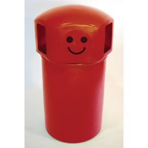 145L hooded top spacebin with smiley face logo - Red