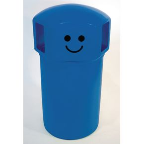145L hooded top spacebin with smiley face logo - Light blue