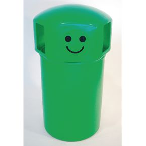 145L hooded top spacebin with smiley face logo - Green