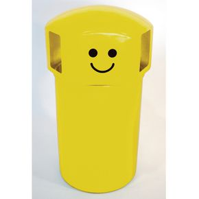 145L hooded top spacebin with smiley face logo - Yellow