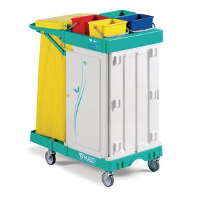 Magic line 200 lockable cleaning trolley