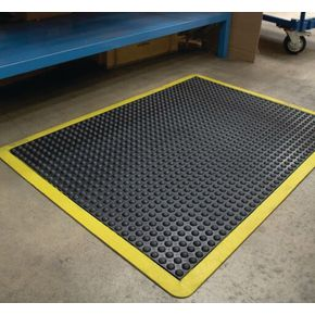 Anti-fatigue rubber safety bubblemat - 0.6m x 0.9m