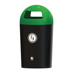 Metro dome hooded top litter bin