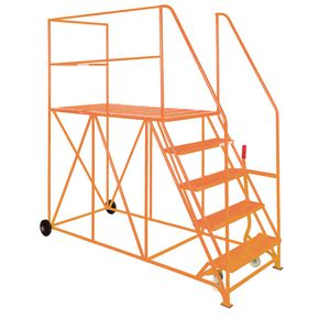 Single sided steel mobile access platforms