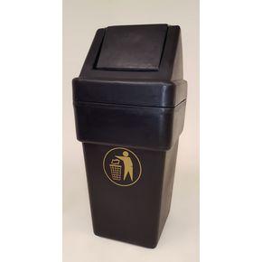 Victorian style litter bin with swing lid