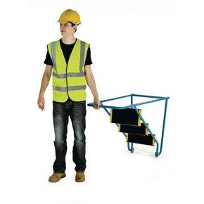 Tilt and pull mobile steps - 3 step