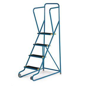 Tilt and pull mobile steps - 4 step