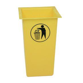 Square open top litter bin with tidyman logo