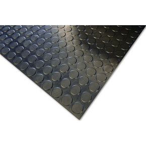 4.5mm synthetic rubber studded floor matting - linear metre, black