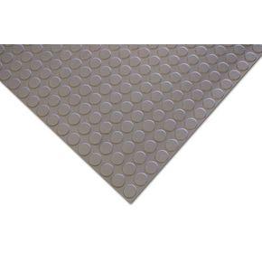 4.5mm nitrile rubber studded floor matting - linear metre, grey
