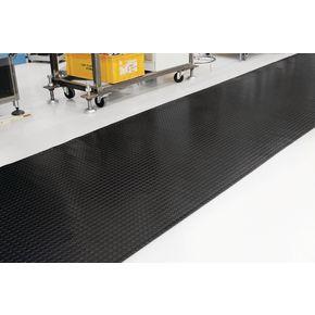 Slip resistant PVC studded floor matting, 10m roll