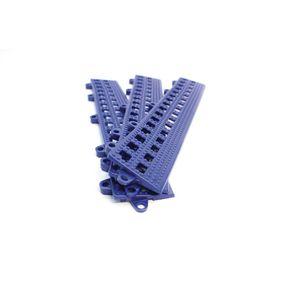 Flexible open-grid PVC floor tiles, male edges - pk of 3