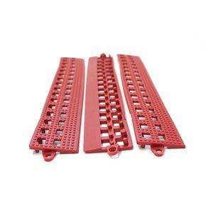 Flexible open-grid PVC floor tiles, female edges - pk of 3