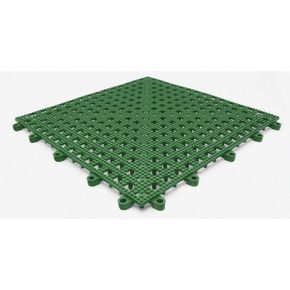 Flexible open-grid PVC floor tiles - pk of 9