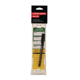 Ladder safety management tag kits