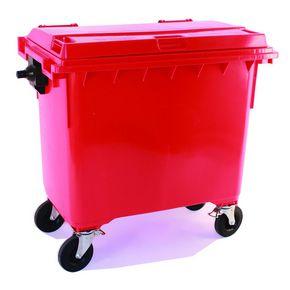 4 wheeled bin with lockable lid - 1100L