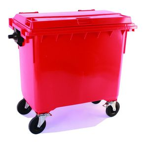 4 wheeled bins with drop down front - 1100L