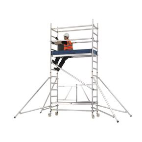 Premium folding  mobile work platform and tower
