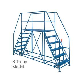 Dual access mobile work platforms - 6 tread