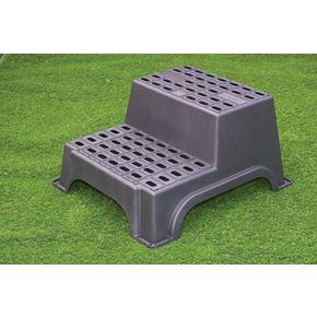 Heavy duty plastic safety step up stool