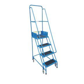 Narrow aisle warehouse stepss - PVC treads