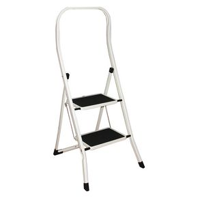 Folding step stools with extended handrail - 2 tread