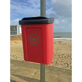 Apollo wall or post mounted dog waste bin