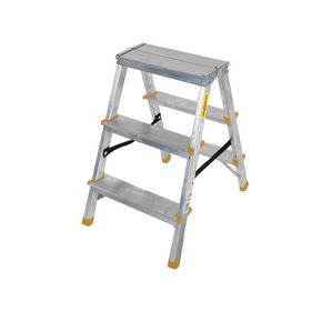 Double sided aluminium steps, 3 treads