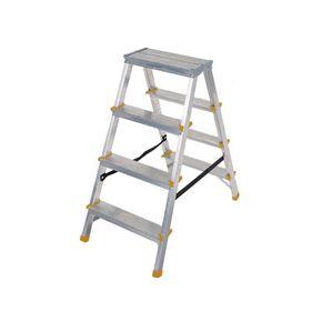 Double sided aluminium steps, 4 treads
