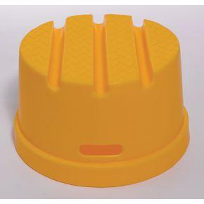Round plastic step - yellow