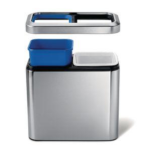 Slim open top waste recycle bin
