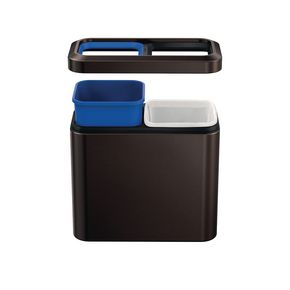Simplehuman slim open top waste recycle bin