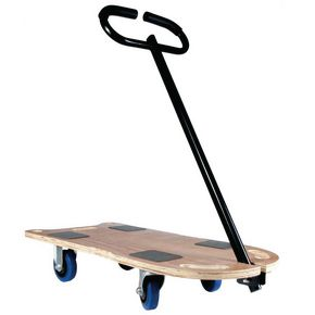 Rectangular economy plywood dolly with handle