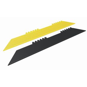 Heavy duty modular rubber tile mat - bevel edges