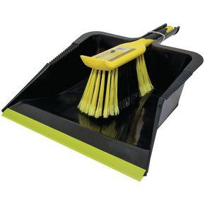 Heavy duty dustpan and brush set.
