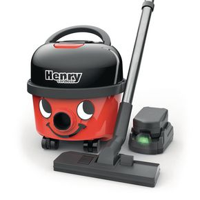 Henry cordless vacuum cleaner, two batteries