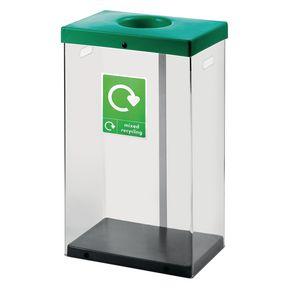 60L clear body recycle bin